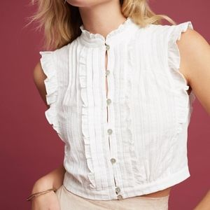 ANTHRO Yvette Cropped Blouse by PlentyTracy Reese